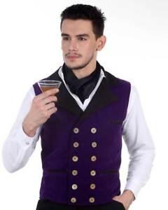 Men's Joshua Velvet Vest Steampunk, finest fabric, handmade one by one, nice!