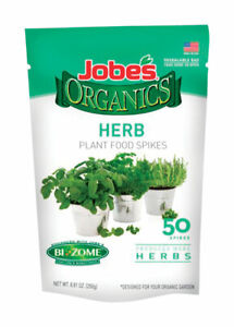 Jobe's  Organics  Fertilizer Spikes  For Herbs 50 pk