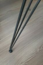 "The Classic Hairpin Legs 14"" - 22"" Steel Metal Table Legs - Handmade - Black"
