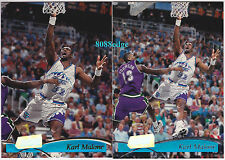 (2)1997-98 TOPPS STADIUM CLUB PROMO + BASE: KARL MALONE #115 RARE PROMOTION CARD