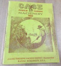 1922 Case Power Farming Machinery Catalog Racine Wisconsin Vintage   (pa)