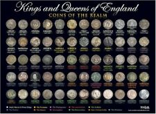 Coins of Kings And Queens Of England A3 Wall Chart Poster