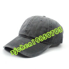 Solid Plain Washed Polo Style Baseball Ball Dad Cap Hat 100% Cotton Adjustable