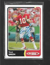 2003 Topps Total - TRENT GREEN - Hand Signed Autograph Vintage Card - CHIEFS
