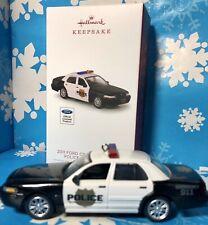 HALLMARK 2018 ~ 2011 Ford Crown Victoria Police Interceptor Christmas ORNAMENT