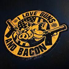I Love Guns and Bacon - Sticker