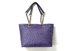 Genuine Ostrich Leather Handbag (Purple), Women's Bag, Genuine Ostrich