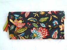 Handmade Wallet/Clutch - Free Shipping -Large Navy Jacobean Print 259