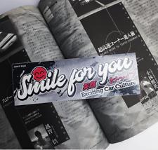 'Smile For You' Glitter Slap Sticker JDM Japan Car Culture Drift Decal