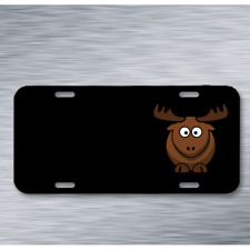 Elk Animal Brown Mammals Horns On License Plate Car Front Add Names