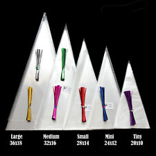 CLEAR Cone Bags FOOD SAFE for Sweet Candy Favour Colour Tie free