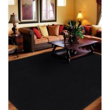 Area Rug Carpet 8 x 10 Ft Black Solid Rugs Living Room Floor Modern Decor Large
