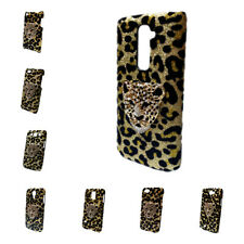 Deluxe Bling Leopard Rhinestone Tiger Head Back Hard Case Cover For Lot Phones