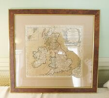 A 1764 MOUNTED & FRAMED FRENCH MAP OF THE BRITISH ISLES.  16 5/8 X 15 3/4 INCHES