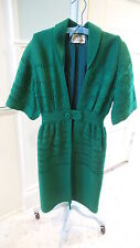 Vintage LILI KNITS OF HOLLYWOOD SWEATER COAT Kelly Green, Jackson Graves