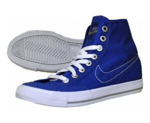 New Nike Go Mid Canvas  Mens Basketball Cross Training Shoes 434497-400 Size 9