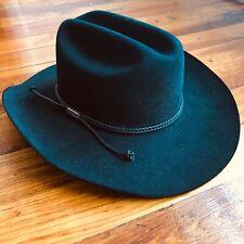 Vtg Stetson Black Sz 7 1/2 R Rancher Cowboy Xxxx Hat Authentic with Original Box