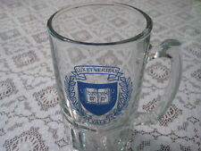 Vintage Yale Lux ET Veritas Glass Beer Stein (Heavy)