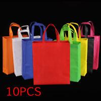 10X Reusable Shopping Bags Tote Bag Green Grocery Eco Friendly Non Woven Folding