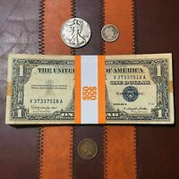 Starter Kit US Silver Coin And Certificates Lot - Blue Seal Bill Rare Vintage