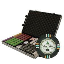 New 1000 Bluff Canyon 13.5g Clay Poker Chips Set with Rolling Case - Pick Chips!