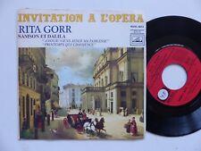 Invitation a l opera RITA GORR Samson et Dalila ROVL 9013