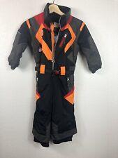 Obermeyer Boys Snow Suit Ski Suit Size 3 Toddler Red Orange Black Gray EUC