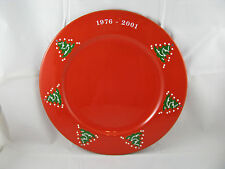 "Christmas Tree Charger Plate 12 3/4"" 25th Anniversary Waechtersbach Germany NEW"