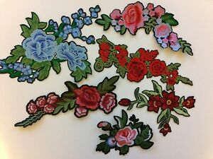 Badge Fabric Iron On Sew on Patches Transfers Embroidered Applique Cloth Fashion
