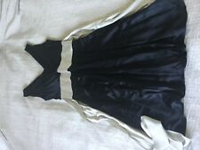 Lovely Hobbs 100% silk dress size 14! Black with silver grey waist tie wedding