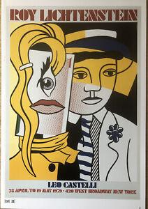 Roy Lichtenstein 1979 Leo Castelli Stepping Out & Whitney Pop Art Poster B77