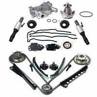 Timing Chain Water Pump Kit+Cam Phasers+Cover Gasket For 04-08 Ford Lincoln 5.4