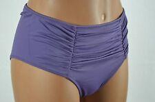 VS Victorias Secret High Waist Ruched Purple Rich Grape Bikini Bottoms sz S
