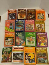 Atari 2600 System w/ huge game lot. Boxed Atari game's