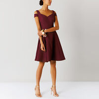 Coast NEW Ava Structured Dress in Burgundy Sizes 6 to 16