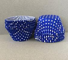 Jumbo Blue Polka Dot Cupcake Liners, Jumbo Cupcake Wrappers, Jumbo Baking Cup