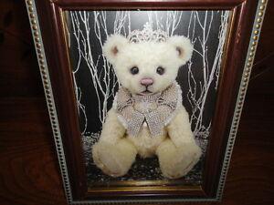 One & Only Bears Artist Michelle Lamb OOAK NATALIA Bear Photo Art Card Framed 04
