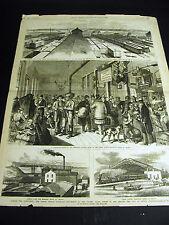 Omaha Nebraska UNION PACIFIC RAILROAD DEPOT Northwestern Quincy 1877 Lg Print