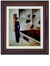 Framed, August Macke Milliner's Shop Repro, Hand Painted Oil Painting 20x24in