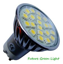 GU10 20 SMD LED 240V 3.5W 290LM WARM WHITE BULB WITH GLASS COVER ~50W