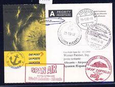 55695) SPAN AIR FF Friedrichshafen - Alicante Spanien 22.3.02, Kt ab Schweiz SP