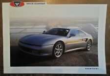 VENTURI ATLANTIQUE COUPE orig 1993 Sales Leaflet Brochure - English & French