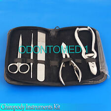 Chiropody Instruments Kit, Podiatry Toe Nail Clipper Nipper File Scissors,BTS-68