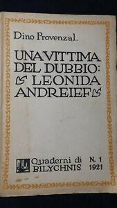 Provenzal: Una vittima del dubbio Leonida. Andreief Quaderni di Bilychnis n° 1