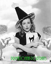 GALE ROBBINS 8X10 Lab Photo 1940s Sexy Halloween Witch, Kitty Cat Portrait