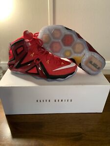 Nike Lebron 12 Elite Series Red Size 8.5 With Box