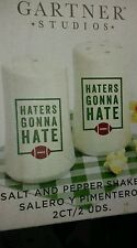 Game Day Tailgate Party Football Salt and Pepper Shakers HATERS GONNA HATE Boxed