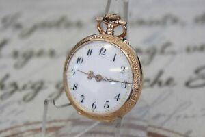 Antike ED Glashütte Damen Taschenuhr in 0.585 14K Gold pocket watch