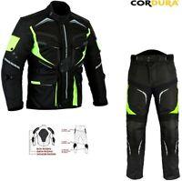 Alta Visibilità Uomo Ce Armatura Cordura Moto/Giacca in Tessuto Pantaloni Tuta
