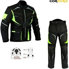 HIVIZ MENS CE ARMOUR CORDURA MOTORBIKE / MOTORCYCLE TEXTILE JACKET TROUSERS SUIT